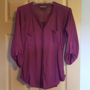 Almost Famous purple top size L